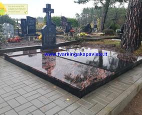 Kapo dengimas plokšte, paminklai kapams, kapų tvarkymas / TVARKINGA KAPAVIETĖ / Darbų pavyzdys ID 1094315