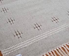 Mereškuotas lino-medvilnės takas 0,50×0,43 m.