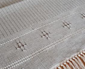 Mereškuotas lino-medvilnės takas 0,45×0,43 m.