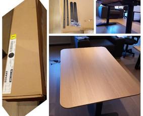 Ikea baldų surinkimas Jūsų namuose, biure, sodyboje. Šiuo atveju, buvo suteikta baldų surinkimo pagalba darbui iš namų karantino sąlygomis. Dirbkite saugiai ir patogiai iš namų