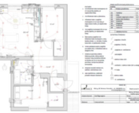 Elektros prietaisų/jungiklių/rozečių išdėstymo planas