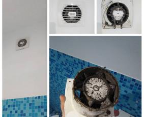 Vonios, virtuvės oro ištraukimo ventiliatoriaus montavimo, keitimo darbai Jūsų namuose, biure, sodyboje.