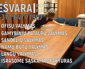 Valymo Paslaugos Visoje Lietuvoje Ešvara 8-647-77907
