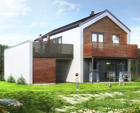 Karkasinis namas. Norvegija
