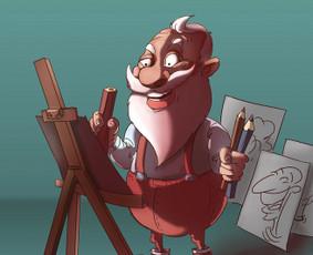 Dailininkas - šaržai, iliustracijos