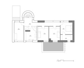 Pastato 2.a planas po rekonstrukcijos