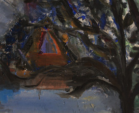 """RAGANOS NAMAS""/""THE WITCH'S HOUSE"" (akrilas, drobė, 100x60 cm, 2015 m.)"
