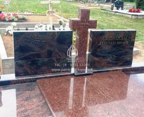 Paminklai kapams, kapų tvarkymas, granito plokštės / Tadas / Darbų pavyzdys ID 233919
