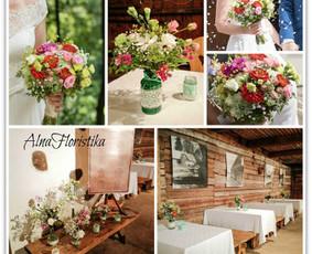 Puokštės ir kitas Jūsų vestuvių šventės floristinis dekoras ir kitos floristo paslaugos. Bažnyčios, šventės vietos, salės, stalų puošimas ir kt.