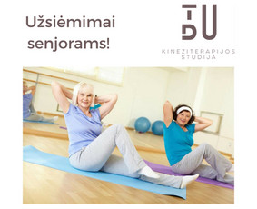 Žemo intensyvumo užsiėmimai grupėje skirti vyresnio amžiaus žmonėms stiprinti širdies - kraujagyslių sistemą, koordinacijos ir pusiausvyros lavinimui, raumenų stiprinimui.