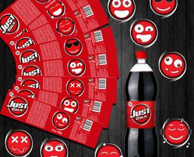 Just cola etiketės dizainas