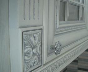 fasadai itališki, uosis patinuotas sidabru, visa kita gaminame Lietuvoje