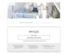 """""""Matilda"""" dovanų kuponas"""