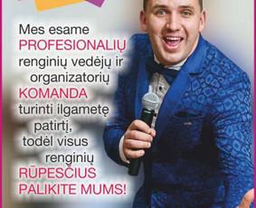Renginių vedėjas Linas Cinkutis