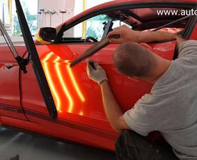 Automobilių kėbulo lyginimas be dažymo / PDR kursai, mokymai / Darbų pavyzdys ID 301653