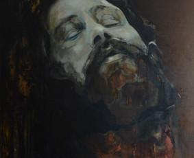 """Darbas pagal užsakymą. """"Jim Morrison"""". Drobė, aliejus. 120x100cm. 2012m."""