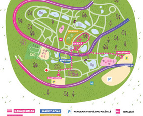 Žemėlapis botanikos sode Leon Somov & Jazzu koncertui. Klientas: Fors Event