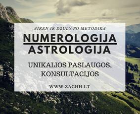 Astrologo numerologo konsultacija / Samantha Zachh / Darbų pavyzdys ID 317289