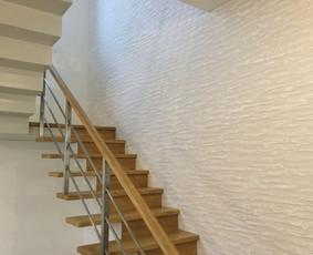 Sienų, lubų, židinių dekoravimas tinku