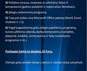 Windows perrašymas, virusų naikinimas