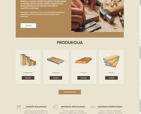 Internetinės svetainės kūrimas įmonei, kuri užsiima produkcijos iš medienos gamyba. UAB SUNWOOD - www.sunwood.lt