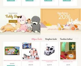 Žaislų elektroninės parduotuvės kūrimas PrestaShop platformoje, su mokėjimu surinkimo moduliu. Žaisliukai - www.zaisliukai.lt