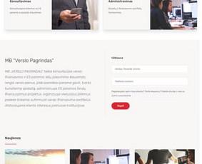 Internetinės svetainės kūrimas įmonei, kuri užsiima ES paramos gavimo konsultacijomis, bei apskaitos klausimais. MB Verslo Pagrindas - www.verslopagrindas.lt