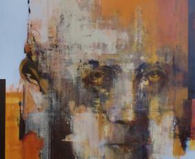 Parduotas darbas. Vytauto Mačernio portretas. Drobė, aliejus. 2015m. Paveikslą įsigijo kolekcionierius iš Jav, Lynnfield'as, Masačiusesas.