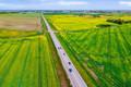 Šalia Panevežio miesto dirbami laukai. NT fotografavimas ir filmavimas iš drono, nekilnojimo turto fotografvimas ir filmavimas dronu