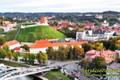 Gedimino pilies bokštas su Vilniaus miesto panorama. NT fotografavimas ir filmavimas iš drono, nekilnojimo turto fotografvimas ir filmavimas dronu