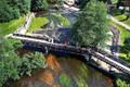 Vestuvių foto sesija ant Belmonto tilto šalia užtvankos, tvestuvių fotografavimas ir filmavimas iš drono, vestuvių fotografavimas dronu, vestuvių foto sesija iš drono