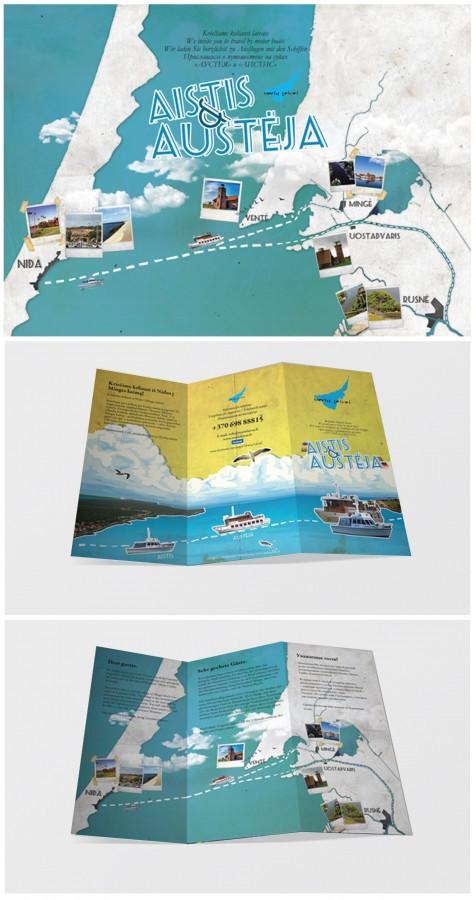 """""""Marių laivai"""" lankstukas ir plakatas"""