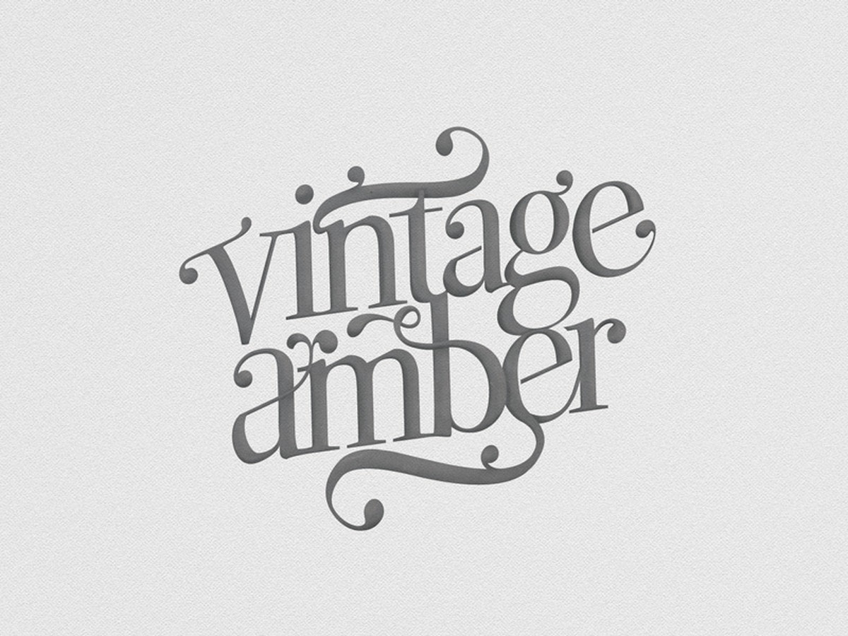 Vintage Amber gintaro parduotuvės logotipas