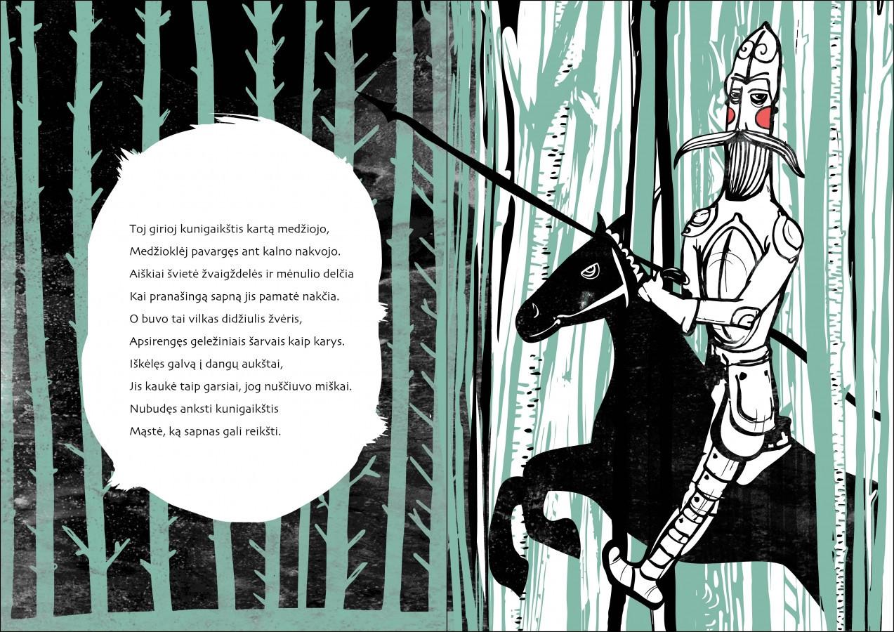 Poemos apie Gediminą iliustravimas.