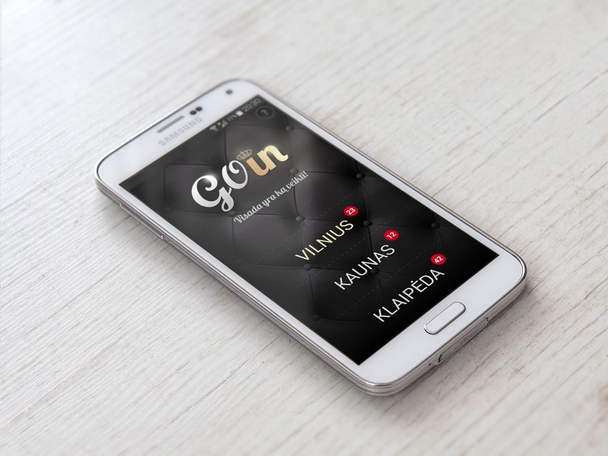 """""""Goin"""" aplikacijos dizainas."""