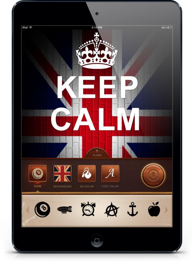 Keep Calm Ipad aplikacija