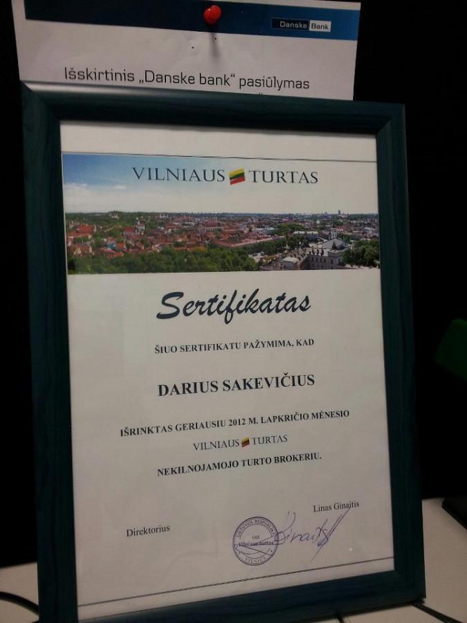 Darius Sakevičius - geriausias mėnesio brokeris