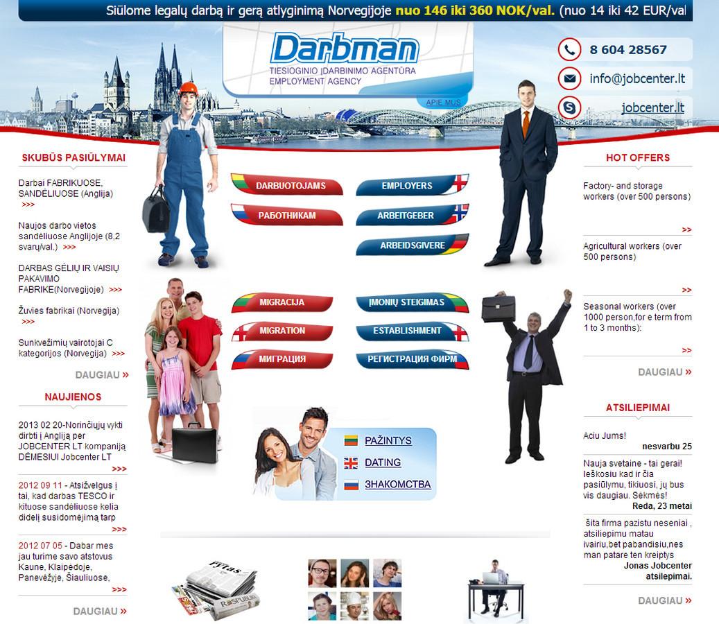 Įdarbinimo svetainė www.jobcenter.lt