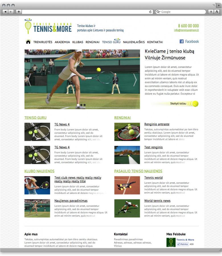 Portalas apie tenisą ir klubo reprezentacinė svetainė