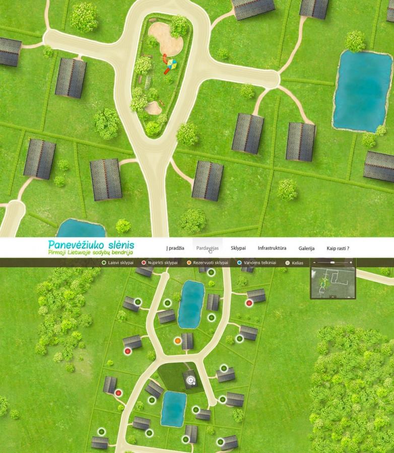 Panevėžiuko privačių namų gyvenvietės projekto pristatymas.  Tikslas - pristatyti projekto viziją potencialiam klientui, per reklamos priemones - svetainė, plakatai ir lankstinukai.  Plačiau apie šį projektą: http://bit.ly/jxEfke  Daugiau darbų  → http://www.andriusdesigner.com/