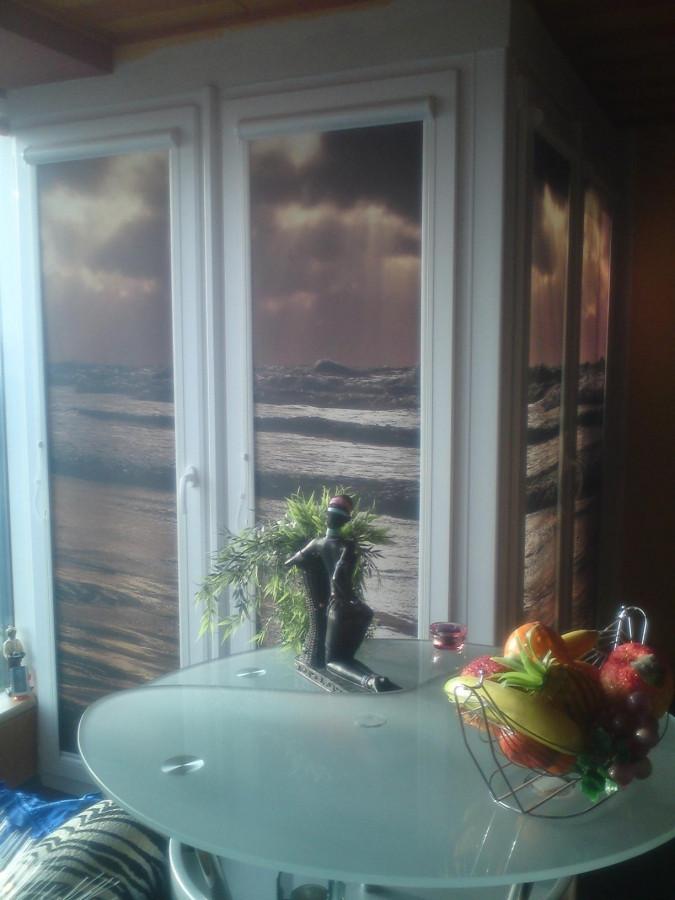 Fotoroletas kasetiniuose mechanizmuose - uždengti vidinį balkoną daugiaauščio bute