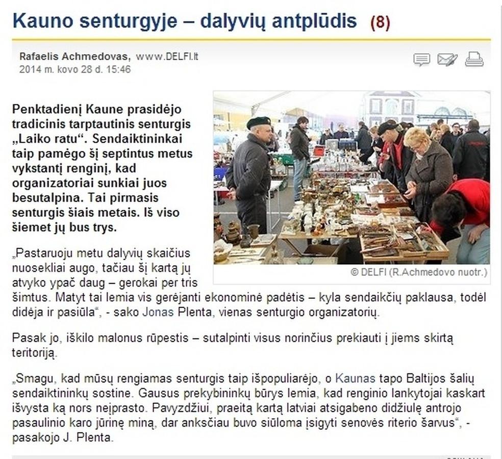 """Koordinuoju didžiausio Baltijos šalyse senturgio """"Laiko ratu"""" viešinimą. Mano inicijuotas straipsnis naujienų portale DELFI."""