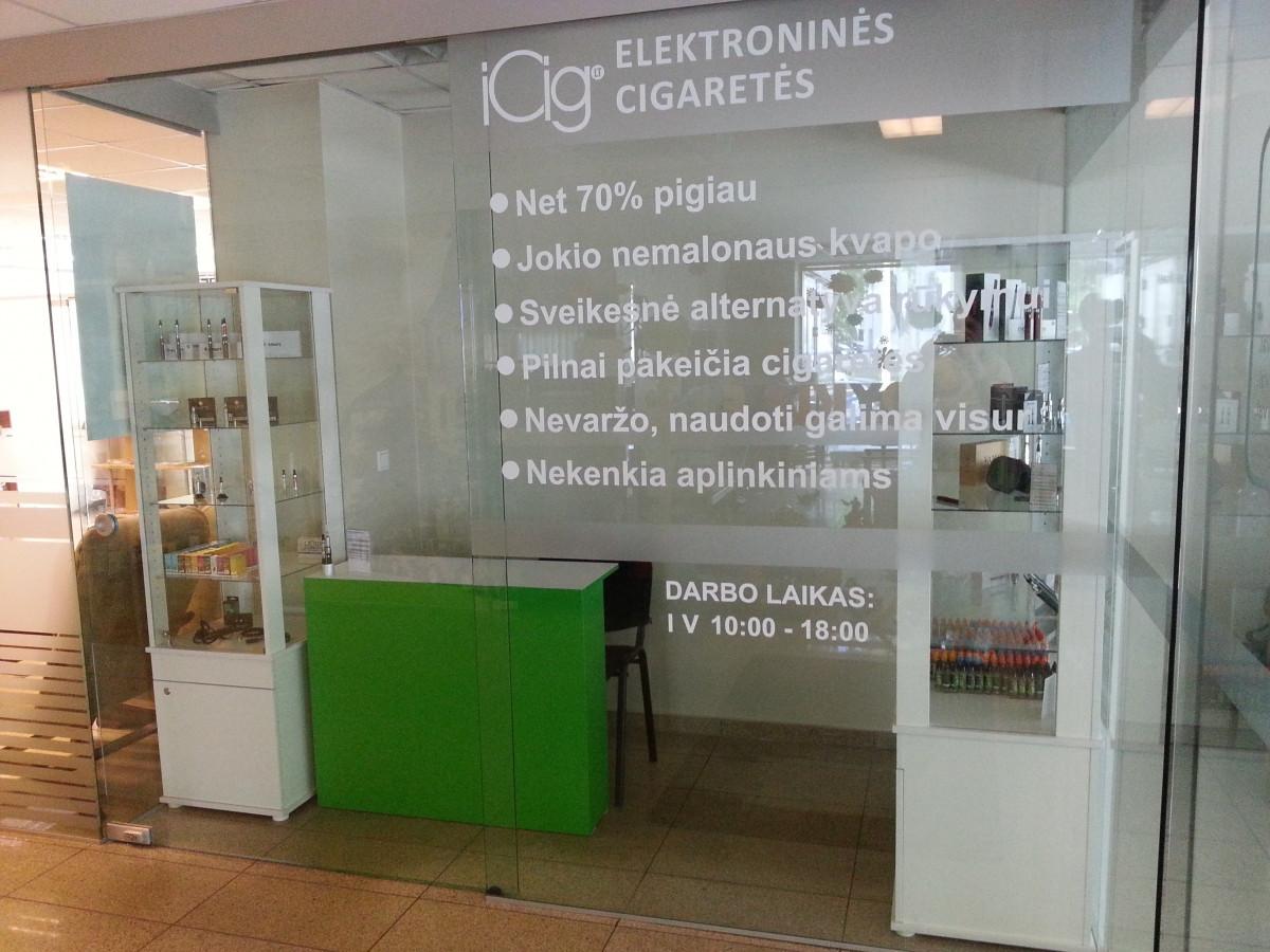 ICig reklama ant langų