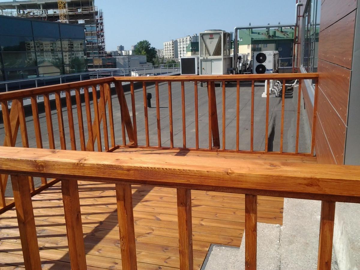 Terasos ant sutapdinto stogo projektavimas ir įrengimo darbai