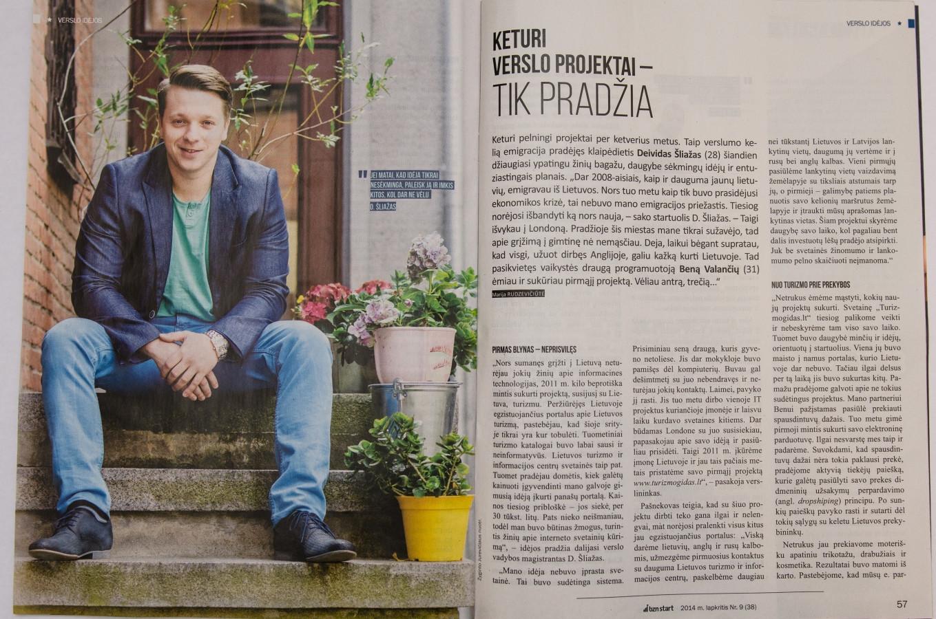 """Fotosesija skirta žurnalui """"bzn start"""". 2014m. lapkričio mėn nr. 56 psl."""