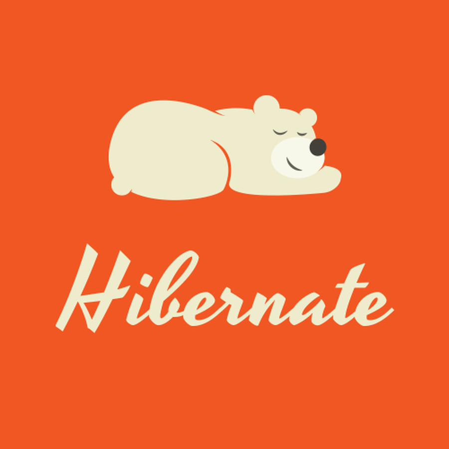 Hibernate.io - Logotipas žadintuvo aplikacijai.