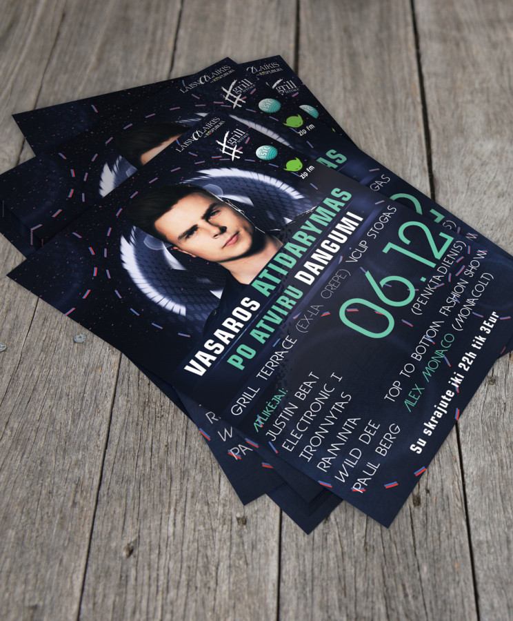 One More Night With Justin Beat Flyer - Vasaros sezono atidarymas