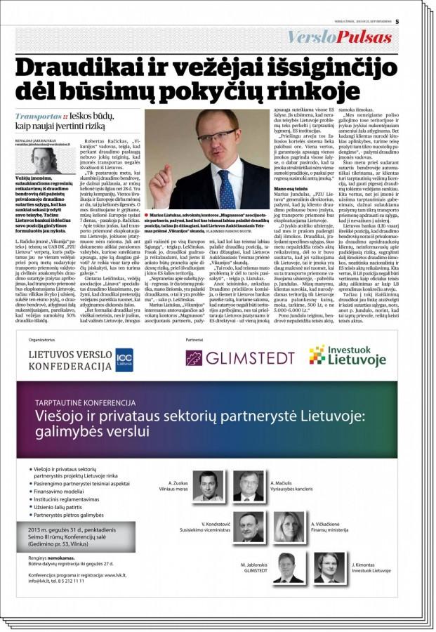 """Komunikacijos darbas su Tarptautine advokatų kontora """"Magnusson"""", vidutiniškai 3-5 publikacijos per mėnesį."""