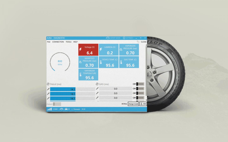 Sukurta programinė įranga AURA, kuri yra skirta ketvirtos kartos dujinės įrangos instaliavimui, derinimui ir dujinio kompiuterio programinės įrangos (Firmaware) atnaujinimui