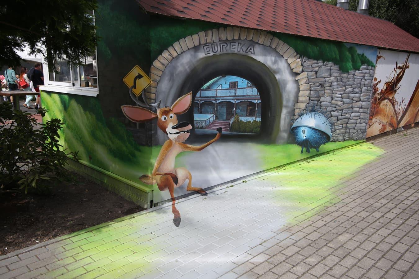 Lauko 3D iliuzija, Iliuzijų namas Eureka, Palanga